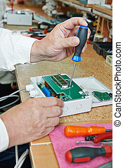Microchip assembling manufacture - Technology process of...
