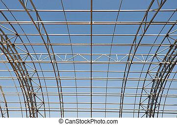 metal construction framework background