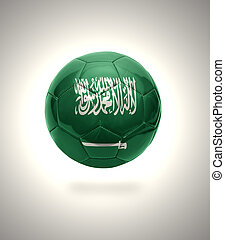 Saudi Arabia Football - Football ball with the national flag...
