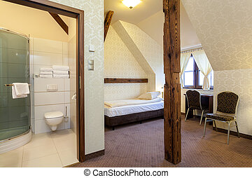 Room for rent - Interior of elegant room for rent, hotel