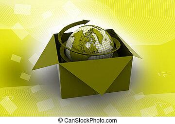 全球, 商業, 概念, 事務,  3D