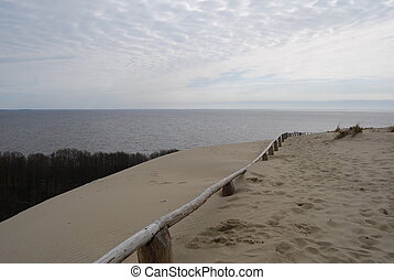 Panoramic view on dunes of the Curo