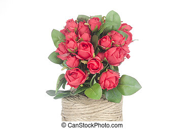 Photos of red roses for Valentine's Day.