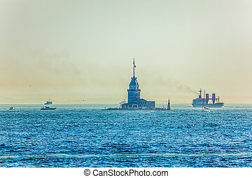 Maiden's Tower Bosphorus - View of the beautiful Maiden's...