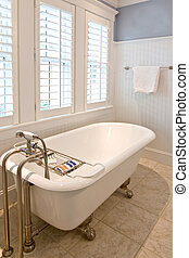 bathroom with clawfoot tub