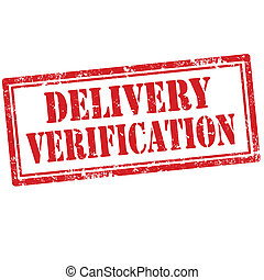 Delivery Verification-stamp - Grunge rubber stamp with text...