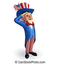 Illustration of Uncle Sam - 3d rendered illustration of...