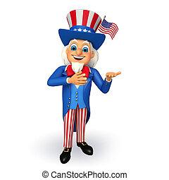 Illustarion of Uncle Sam - 3d rendered illustration of Uncle...