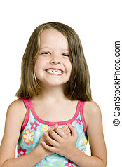 girl with crooked teeth - little girl with crooked teeth,...