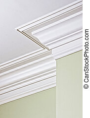 corner crown molding - detail of intricate corner crown...