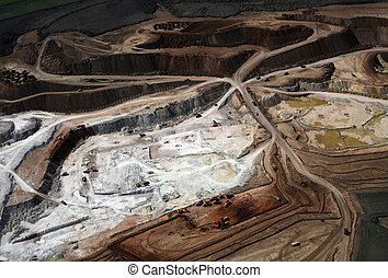 Clay pit Aerial view