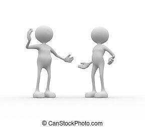 Talking - 3d people - men, person talking