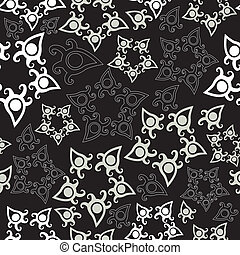 Seamless pattern with stars, floral background