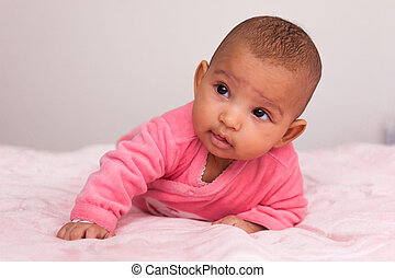 Adorable little african american baby girl - Black people