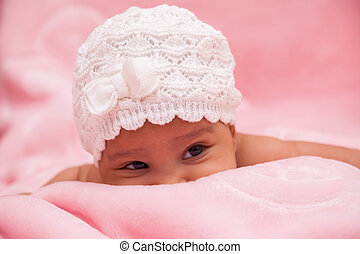 godny podziwu, Mały, Afrykanin, amerykanka, niemowlę,...