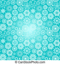 Floral seamless pattern with flowers. Copy square to the...