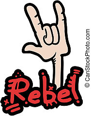 Sign rebel - Creative design of sign rebel