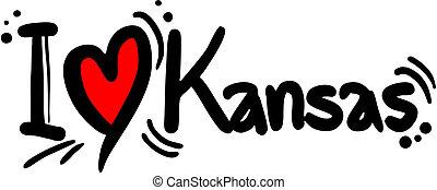 Kansas love - Creative design of kansas love