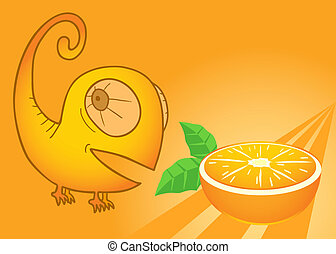 Flavour orange - Creative design of flavour orange