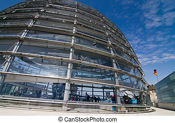 Glass Dome Of The Reichstag - Glass Dome Architecture Of The...