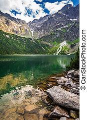 Beautiful lake in Tatra Mountains
