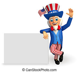 Illustration of an uncle sam - 3d rendered Illustration of...
