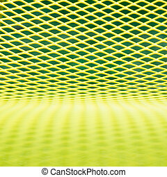 Background texture Yellow grille