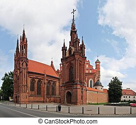 St Annas Church in Vilnius, Lithuania Summer time