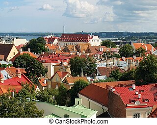 Top-view of the Old Town of Tallinn
