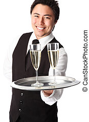 Serving champagne!