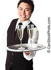 servindo,  champagne!