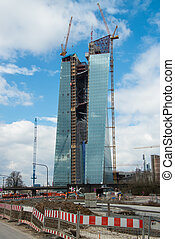 building lot of ew european central bank - current building...