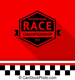 Racing stamp-06, vector illustration