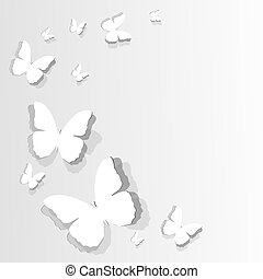 flitting paper butterflies - Design of card with flitting...