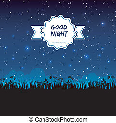 Good night design - Vector illustration of Good night design...