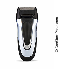 Electric shaver on white background clipping path - Electric...