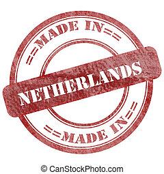 做,  grunge, 郵票, 封印, 荷蘭, 紅色