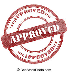Approved Red Grunge Seal Stamp - Graphic sign of damaged...