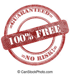 100 Free Red Grunge Seal Stamp - Graphic sign of damaged...