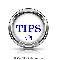 Tips icon - Shiny glossy icon - internet metallic button