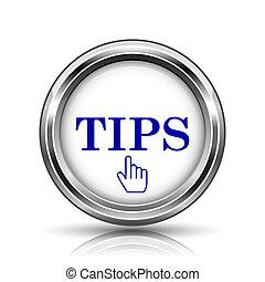 Tips icon - Shiny glossy icon - internet metallic button