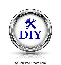 DIY icon - Shiny glossy icon - internet metallic button