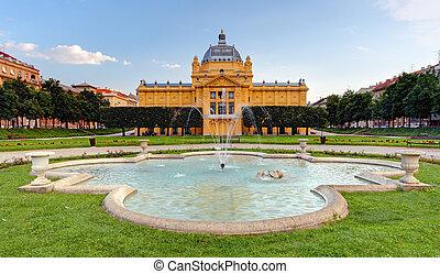 Art pavillion in Zagreb. Croatia - art pavillion in Zagreb....