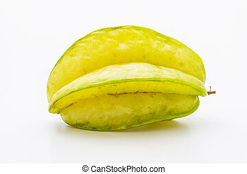 star fruit - Star fruit or Carambola isolated on white...