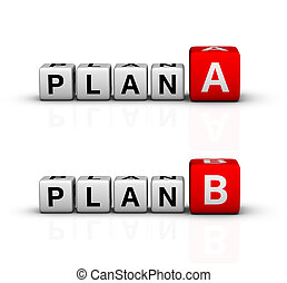 plan A and B icon (red-white crossword series)