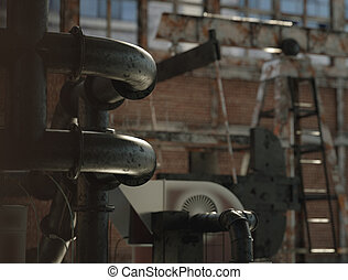 Old and abandoned civic facory - Old and abandoned civic...