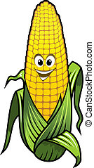 Healthy fresh yellow corn vegetable on the cob with a big...