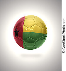 Guinea-Bissau Football - Football ball with the national...