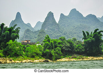 Guilin Park and Karst rocks Yangshuo China
