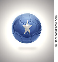 Somalian Football - Football ball with the national flag of...